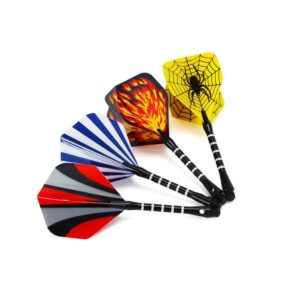 Vopa 17 Grams Soft Tip Darts with 4 Styles Dart Flights