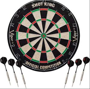 Viper Shot King Regulation Bristle Steel Tip Dartboard