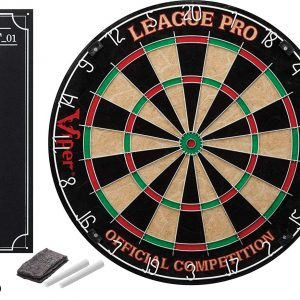 Viper League Pro Regulation Bristle Steel Tip Dartboard Set